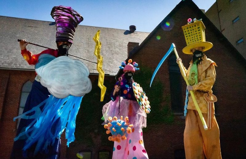 Humour In Hard Times: Parading Through Parks With Shadowland Theatre